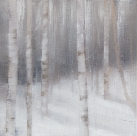 'Birch Wood' oil on canvas SOLD