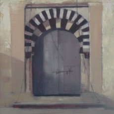 'Tunisian Doorway 9' oil on board 15x15cm SOLD
