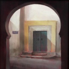 'Street in Tunis' oil on board 18x18cm SOLD