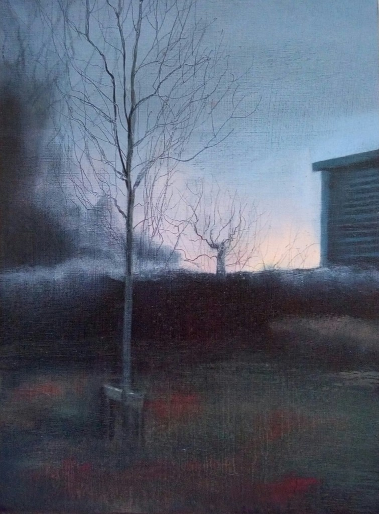 'Edgelands' oil on board 27 x 20 cm SOLD