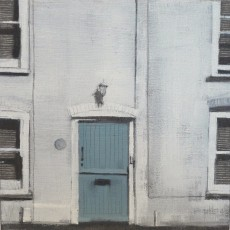 'Blue Door Worthing' oil on board 14x14cm £130