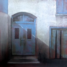 'Blue Door 8' oil on board 20x20cm £190