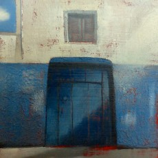 'Blue Door Rabat' oil on board 13x13cm £120
