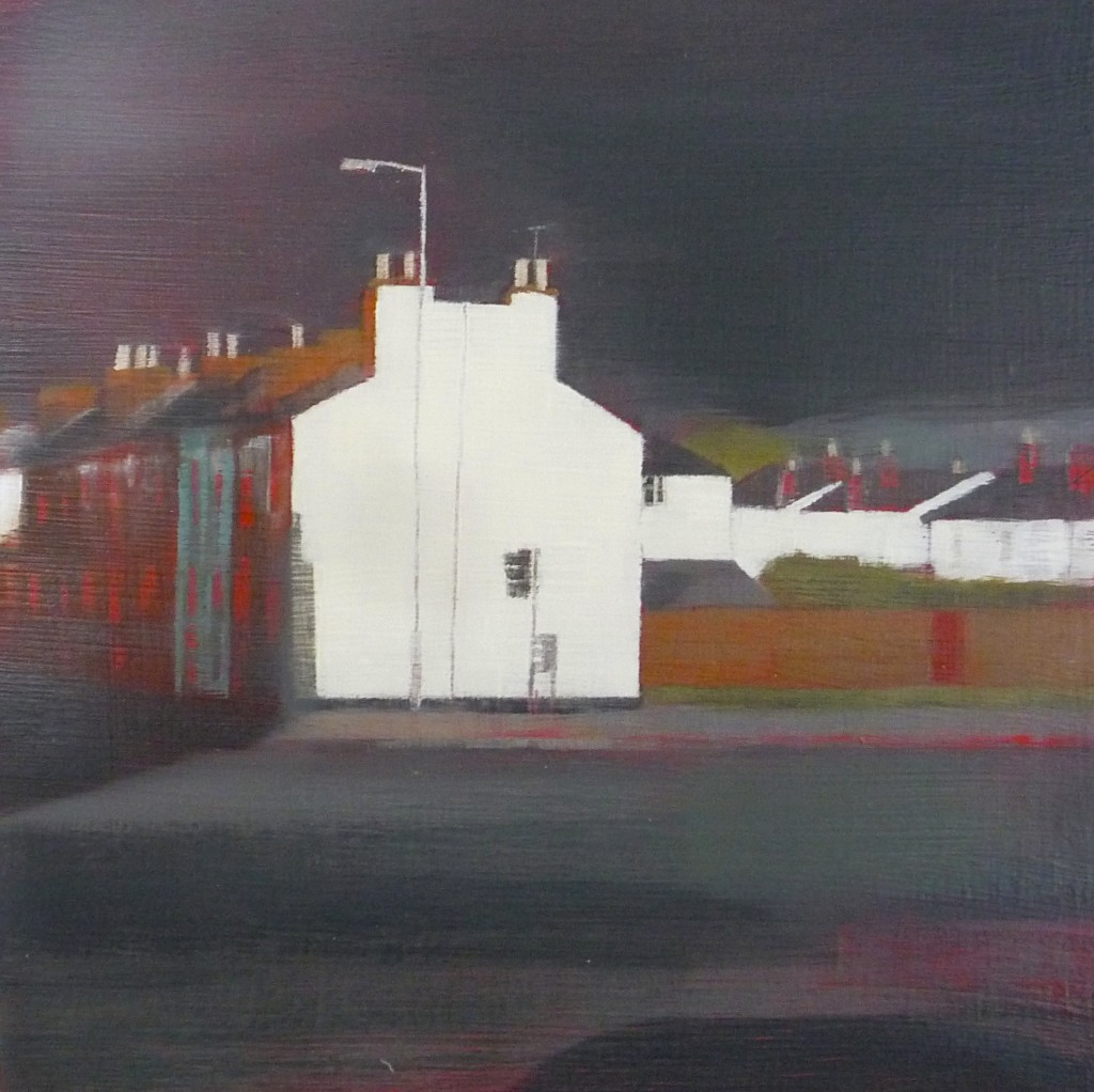 'Townsend Street' oil on board 18x18cm SOLD