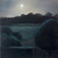 'Rising Moon' oil on canvas 35 x 35cm SOLD