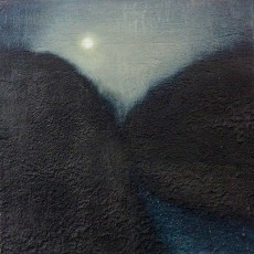 'Night Path' mixed media 12.5 x 12.5cm SOLD