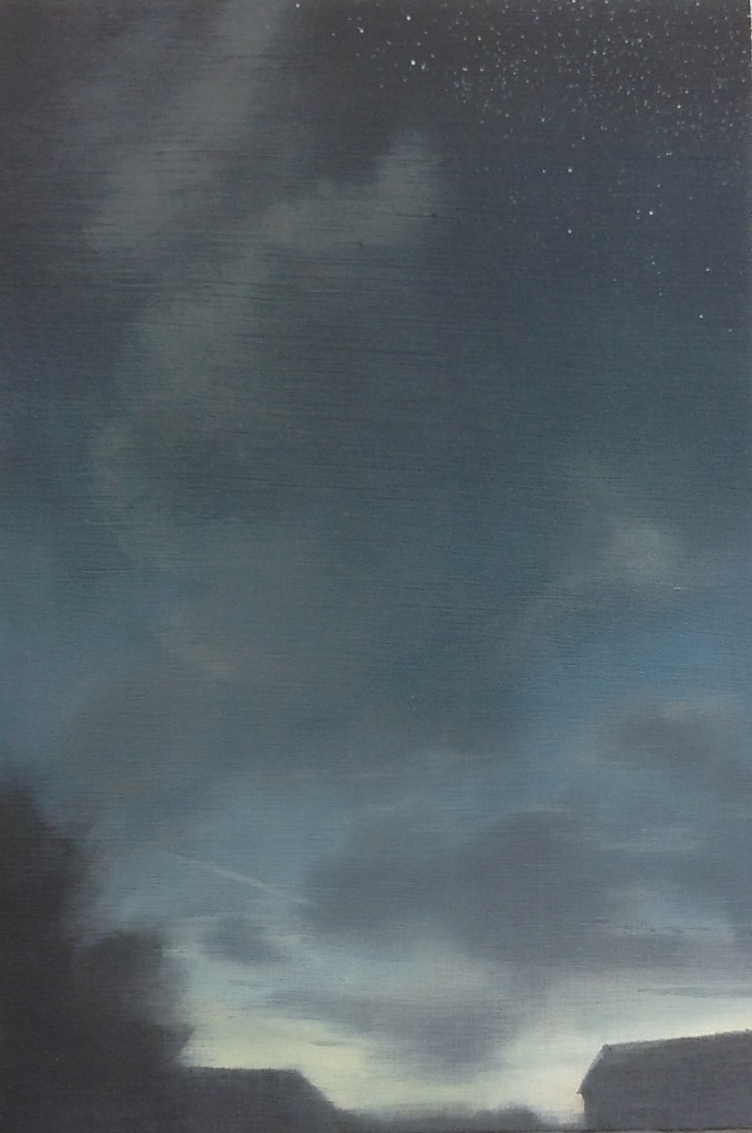 'Last Light' oil on board 24.5 x 16.5 cm SOLD