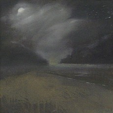 'Moon and Sea' oil on canvas SOLD