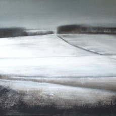 'Whitehill February' mixed media on linen 40x50cm SOLD