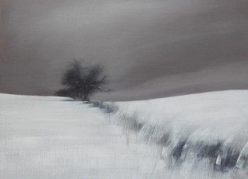 'Winter Oak' oil on linen 25x25cm SOLD