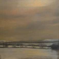 'Cotswold Snow' oil on board  20x20cm £190 SOLD