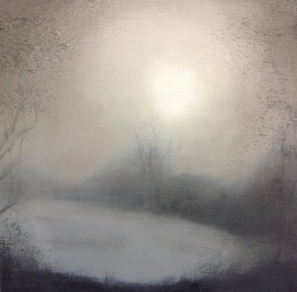 'Foggy Morning 2' 21 x 21 cm oil on board £200