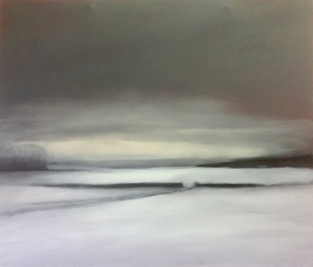 'Winter Evening' oil on canvas 85 x 100cm SOLD