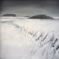 'Winter 3' mixed media on board 41x39cm SOLD