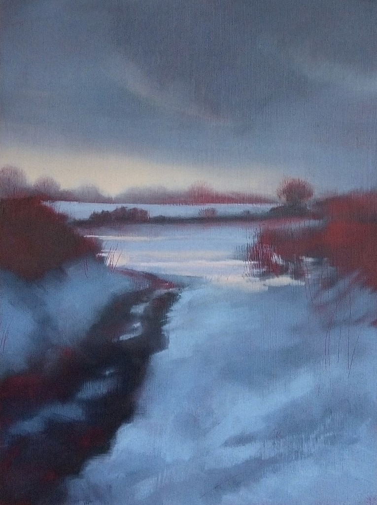'Winter Sunset 3' oil on board 27 x 20 cm £250 SOLD