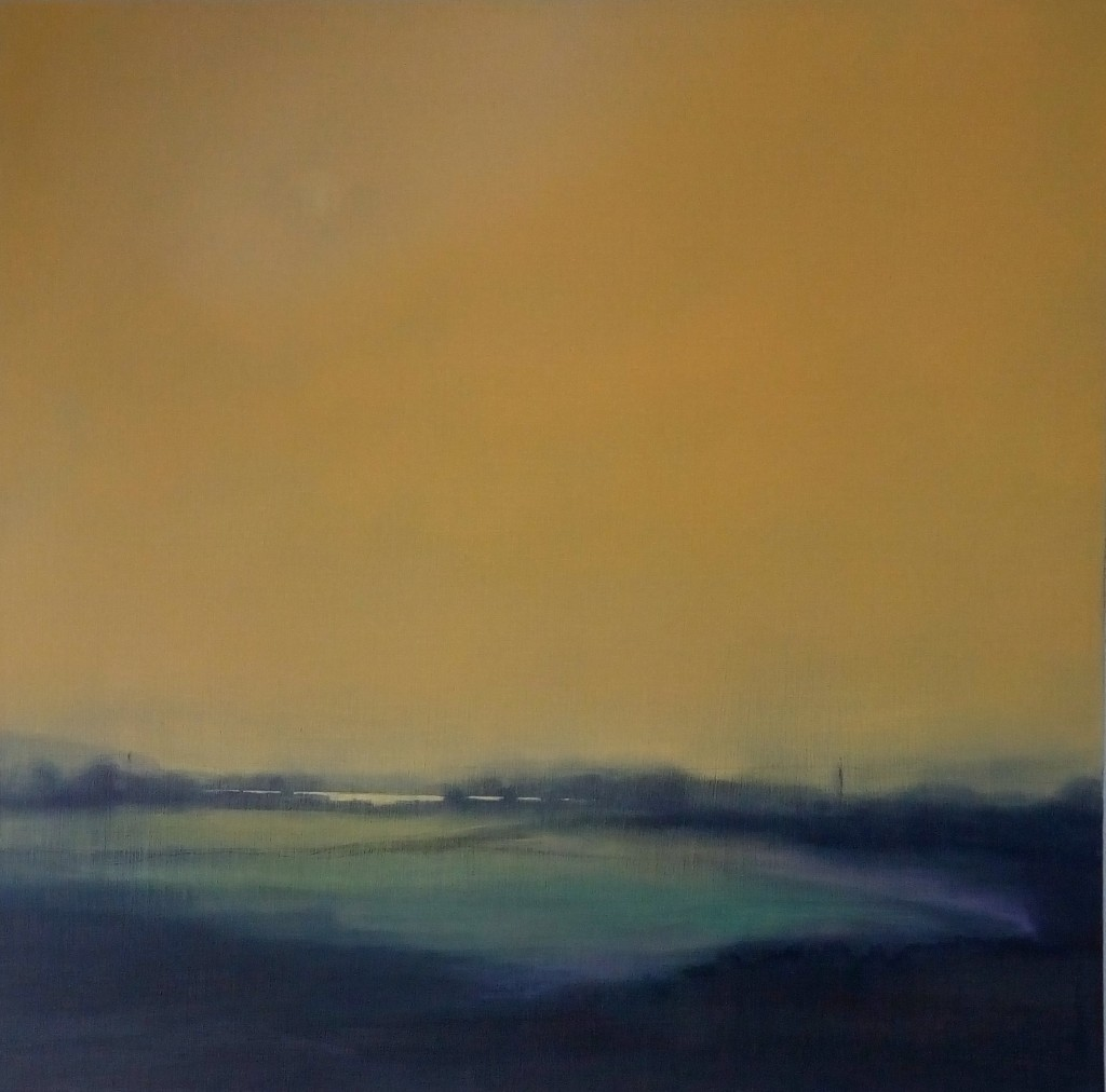 'Sun Breaking Through 3' oil on linen 61 x 61 cm SOLD