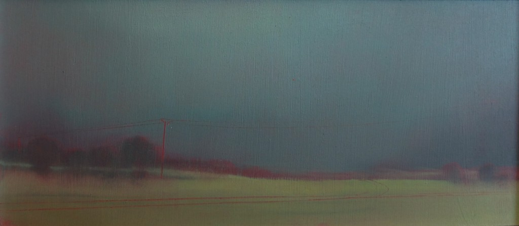 'Before the Storm' oil on board  13x30cm SOLD