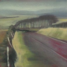 'Forest of Bowland' oil on board 18x18cm SOLD