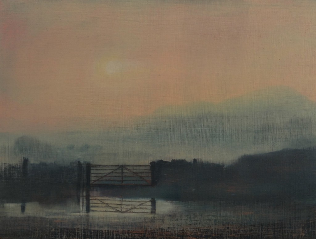 'Field Gate' oil on board 18x24  cm £250