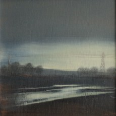 'Flooded Track' oil on board 15 x15cm  £150 SOLD