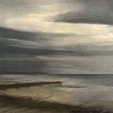 'Overstrand' oil on board 28.5x28.5cm SOLD