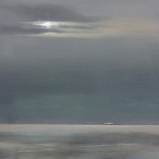 'From Overstrand' oil on board 24 x 18cm SOLD