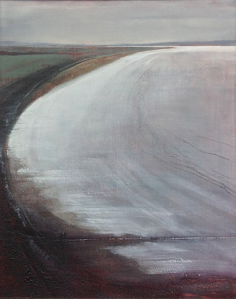 'Brean Sands' mixed media on board 64x52cm  £550
