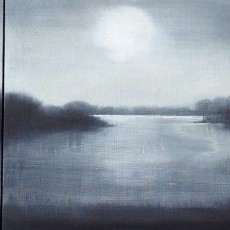 'Lake 1' (triptych) mixed media 15 x 45cm SOLD