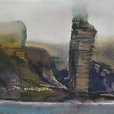 'Old Man of Hoy 2' oil on canvas 60x100cm SOLD