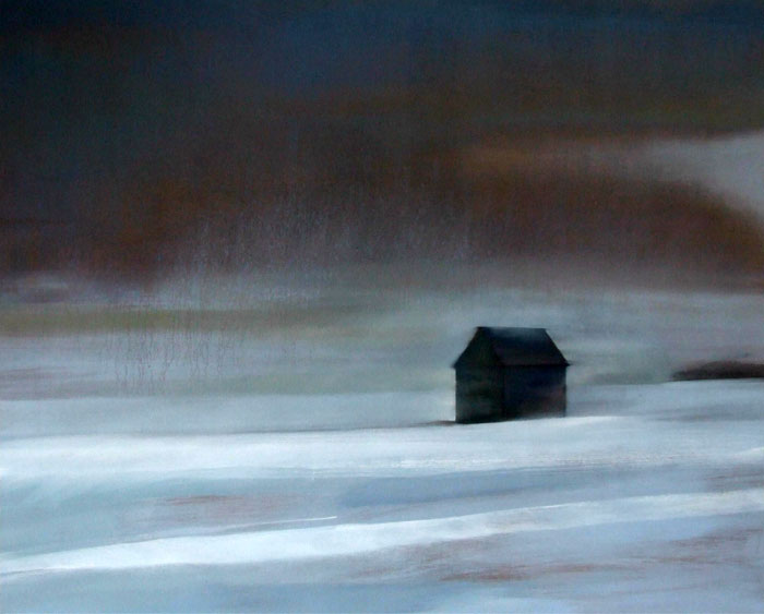 'Moving House' oil on canvas SOLD