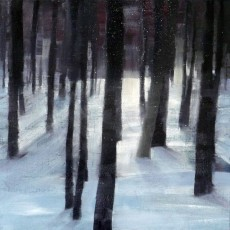 'Night Forest' oil on canvas SOLD