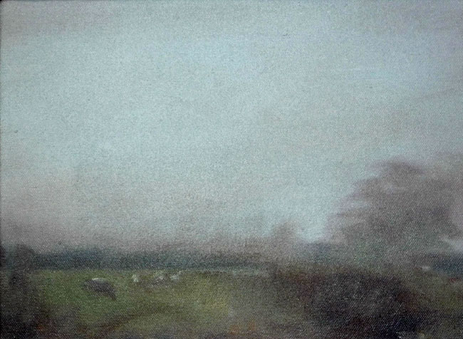 'November 2' oil on canvas 12.5x18cm SOLD