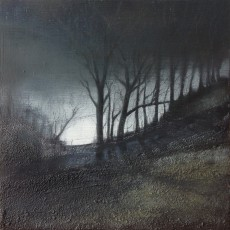 'Back of Cleeve Hill 2' mixed media 20 x 20cm SOLD