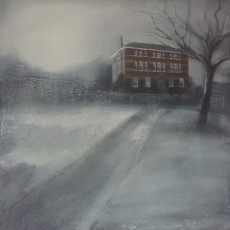 'Christoe House' mixed media SOLD