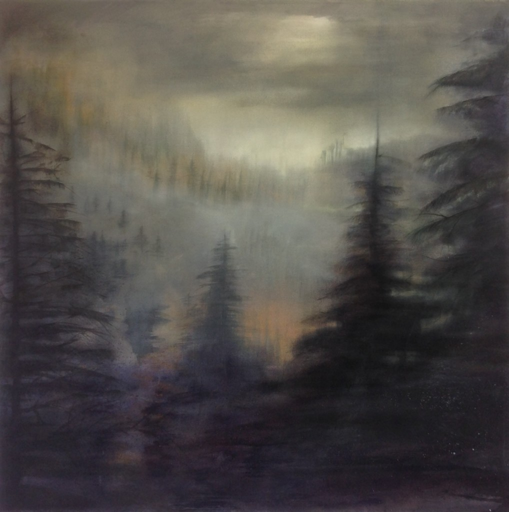 'Forest' oil on canvas 108 x 108 cm SOLD