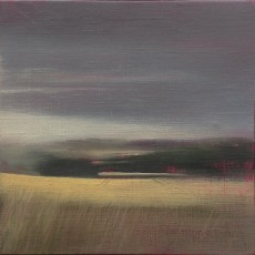 'Cotswold Field 2' oil on linen 20.5 x 20.5cm SOLD
