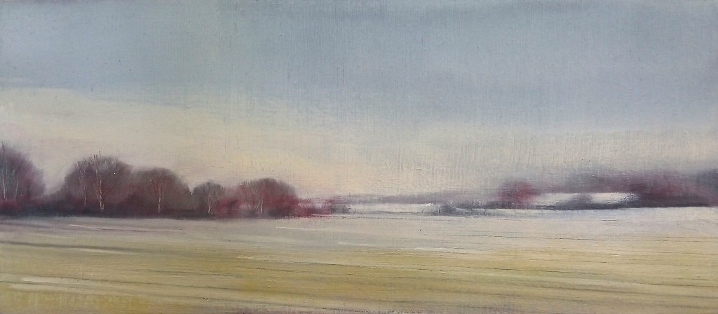 'Winter Field 7' oil on board 13 x 30 cm £250