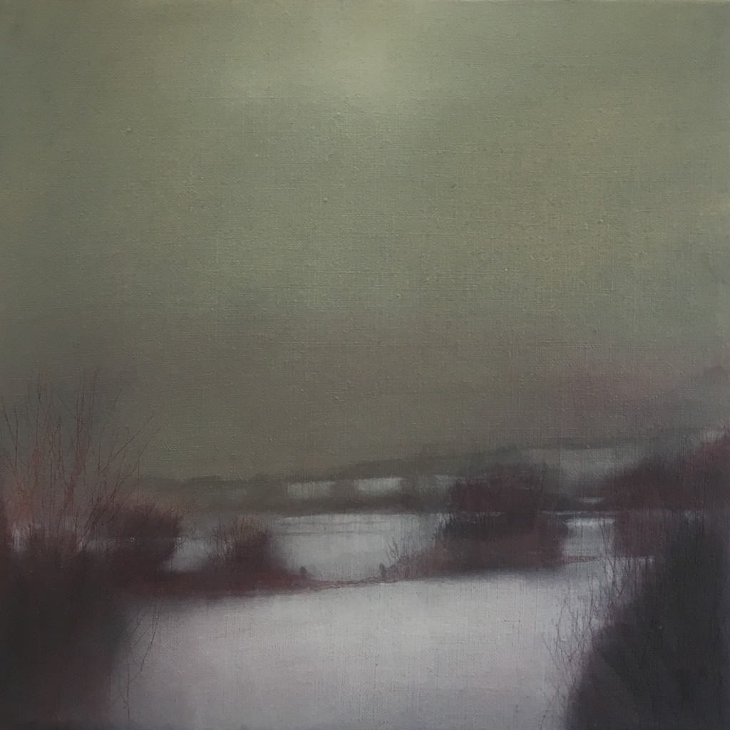 'Last Snow 4' oil on linen 29x29cm £290