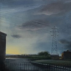 'Edgelands 3' oil on board 20x20cm